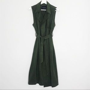 Green Suede Trench Vest By Who What Wear S